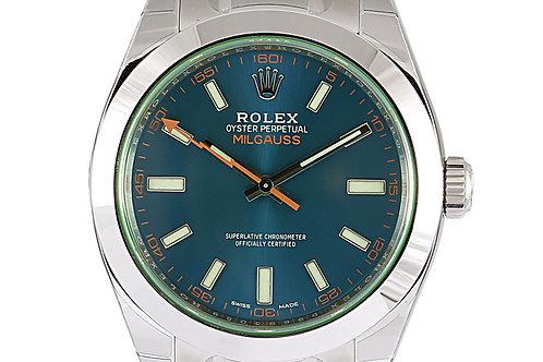 Rolex Milgauss Blue Dial 40mm