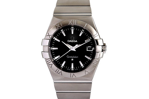Omega Constellation 09 Black Dial 35mm Steel
