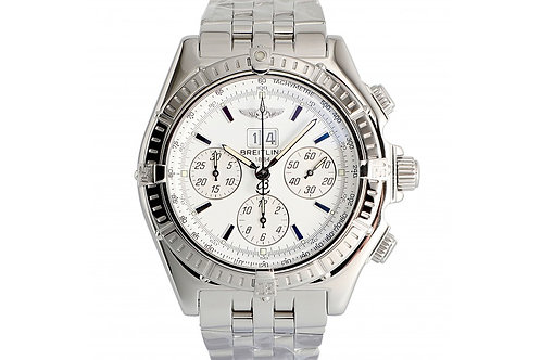 Breitling Windrider Crosswind Chronograph White Dial 43.7mm Steel
