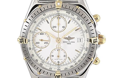 Breitling Chronomat Chronograph White Dial Steel Bracelet