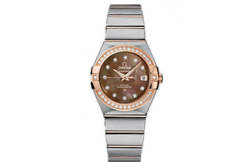 Omega Constellation Steel, Rose Gold & Diamonds