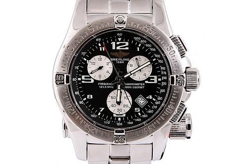 Breitling Emergency Chronograph Black Dial 45mm Steel