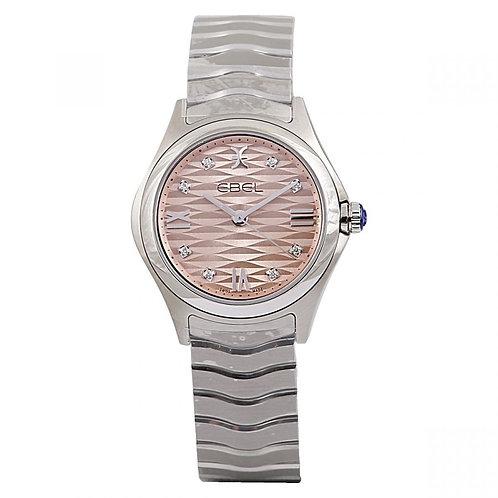 Ebel Wave Pink Diamond Dial 30mm Steel