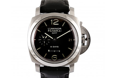 Panerai Luminor 1950 8 Days GMT Black Dial 44mm Steel