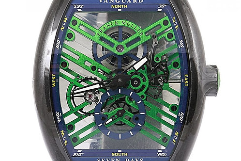 Franck Muller Vanguard Seven Days Skeleton Dial 44 x 53mm Steel