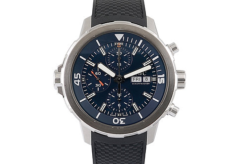 IWC Aquatimer Expedition Jacques-Yves Cousteau Chronograph Blue Dial 44mm Steel