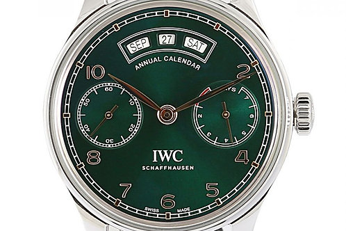 IWC Portugieser Annual Calendar Green Dial 44.2mm Steel Limited Edition