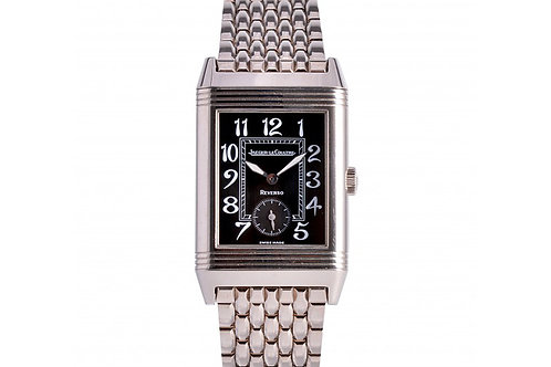 Jaeger LeCoultre Art Deco Reverso Black Dial 26mm White Gold