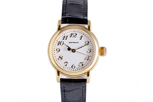 Montblanc Meisterstuck White Dial 24mm Yellow Gold