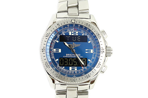Breitling Proffesional B1 Chronograph Blue Dial Digital & Analog 44mm