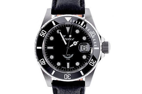 "Squale Y1545 20 Atmos ""MAXI"" Black Dial 40mm Steel"