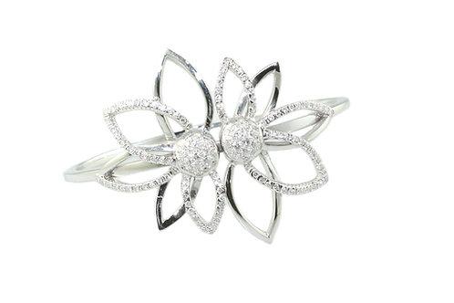 Flower Diamond Bangle