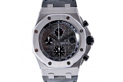 "Audemars Piguet Royal Oak Offshore Chronograph ""Elephant"" Grey Dial 41mm Steel"
