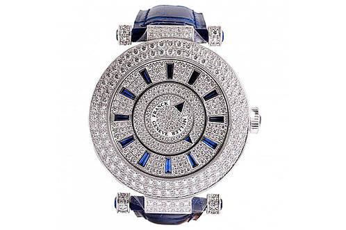 Franck Muller Ronde Double Mystery Sapphire-Diamond Dial 42mm White Gold & Diamo