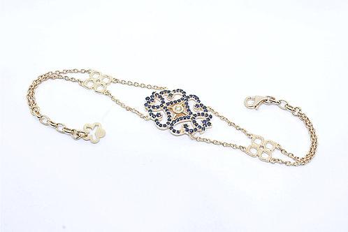 Pink Gold Sapphire & Diamond Bracelet