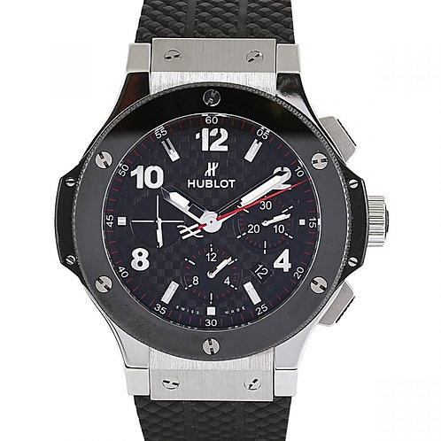 Hublot Big Bang Carbon Fiber Dial Ceramic Chronograph 44mm Steel
