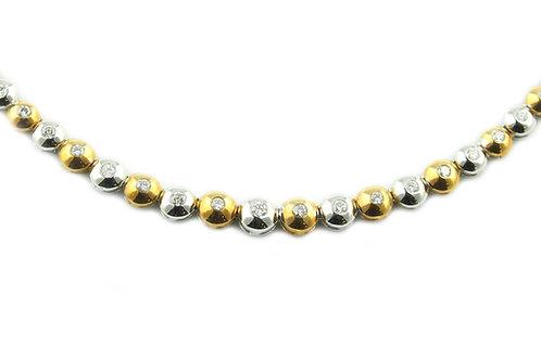 2 Tone Diamond Necklace