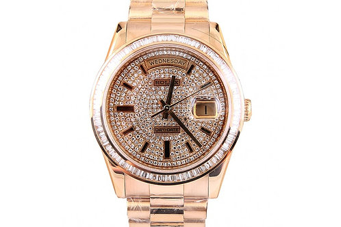 Rolex President Day-Date Diamond Dial 36mm Yellow Gold and Diamonds