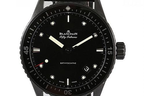 Blancpain Fifty Fathoms Bathyscaphe Black Dial 43.6mm Ceramic