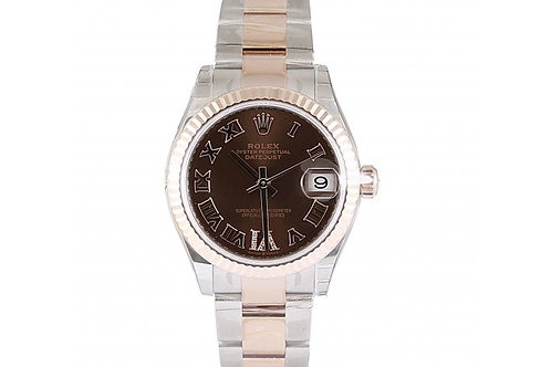 Rolex Datejust Chocolate Roman DIamond Dial 31mm Steel & Rose Gold