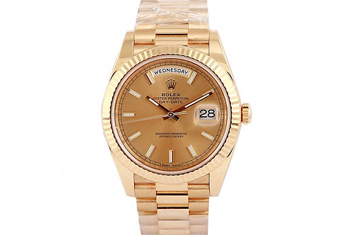 Rolex Day-Date Champagne Dial 40mm Yellow Gold