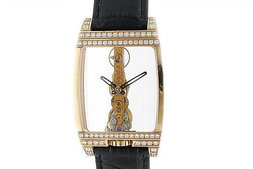 Corum Golden Bridge Rose Gold with Diamonds 32mm Transparent Watch