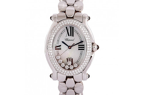 Chopard Happy Sport White Dial 28mm White Gold & Diamonds