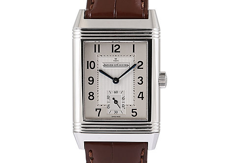 Jaeger-LeCoultre Reverso Grande Taille Steel with Leather Strap