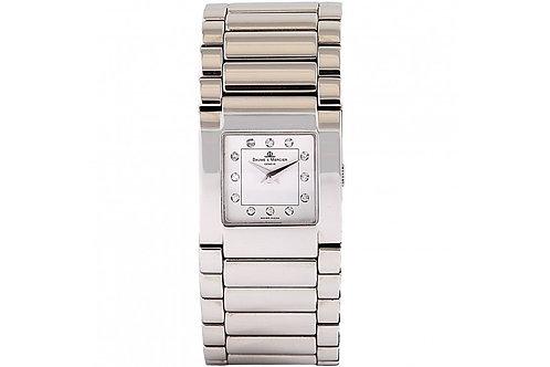 Baume & Mercier Catwalk Silver Diamond Dial 20mm Steel