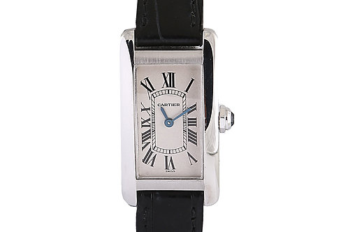 Cartier Tank Americaine 1713 White Gold with Leather Strap 19mm