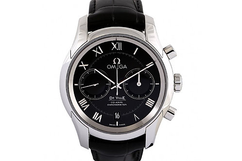 Omega De Ville Co-Axial Black Dial Black 42mm Steel