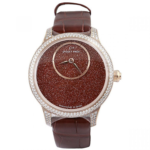 Jaquet Droz Petite Heure Minute Red Aventurine Dial 35mm Rose Gold