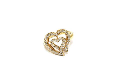 Double Heart Diamond Ring