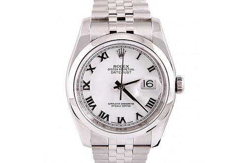 Rolex Datejust White Dial Jubilee 36mm Steel