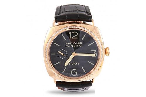 Officine Panerai Radiomir 8 Days Rose Gold & Diamonds