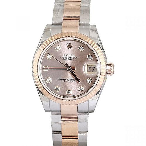 Rolex Datejust Pink Diamond Dial 31mm Steel & Rose Gold