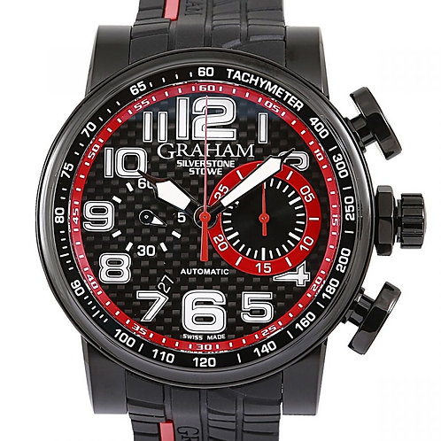 Graham Silverstone Stowe Racing Chronograph Black Dial 48mm
