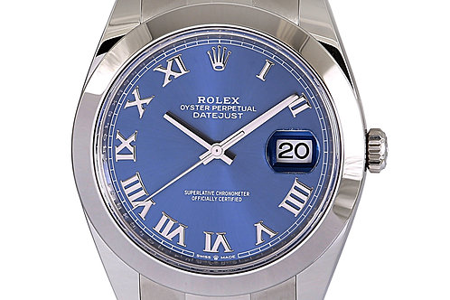 Rolex Datejust 2 Oyster Bracelet with Blue Azurro Dial 41mm Steel