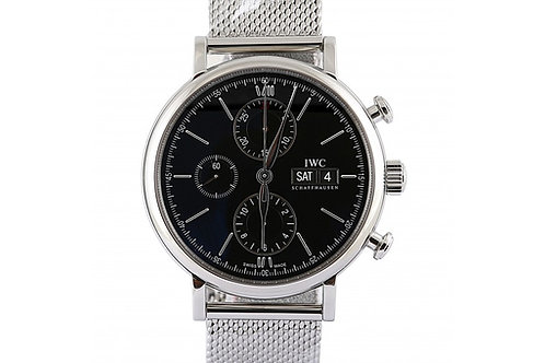IWC Portofino Chronograph Black Dial 42mm Steel