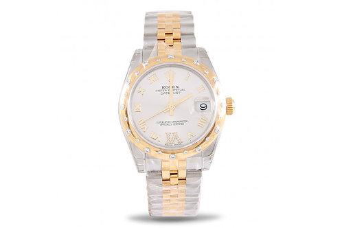 Rolex Datejust 31 Steel, Yellow Gold & Diamonds