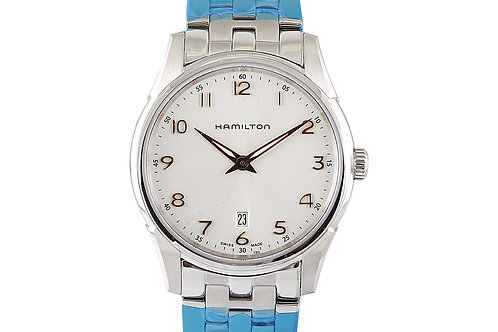 Hamilton Jazz Master Shin Line Steel with White Dial