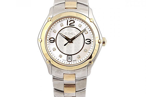 Ebel Sport Mother of Pearl Diamond Dial 27mm Steel & Yellow Gold