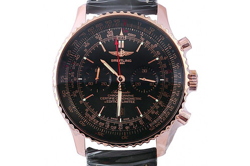 Breitling Navitimer Black Dial Chronograph 46mm Rose Gold