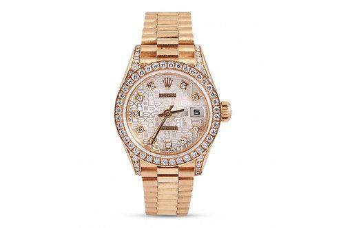 Rolex Lady-Datejust 26 Yellow Gold & Diamonds