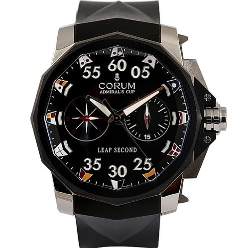 Corum Admirals Cup Leap Second Limited Edition Black Dial 48mm Steel