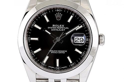 Rolex Datejust Black Index Dial Steel 41mm
