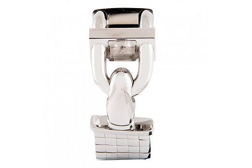 Van Cleef & Arpels Cadenas Silver Dial 24mm Steel