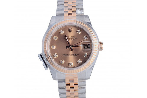 Rolex Datejust Champagne Diamond Dial 31mm Steel & Yellow Gold
