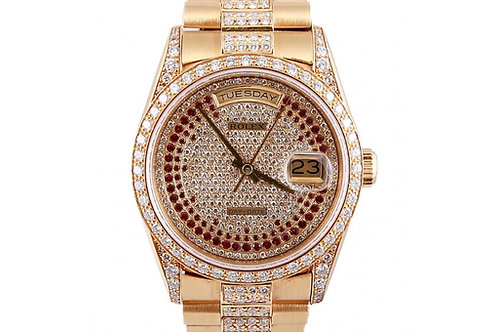 Rolex Day-Date Diamond Dial 36mm Yellow Gold & Diamond