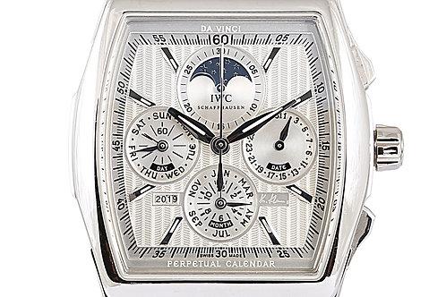 IWC Da Vinci Perpetual Calendar Kurt Klaus Edition Silver Dial Platinum